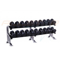 York 27.5kg - 50kg ProStyle Dumbbell Set With Rack