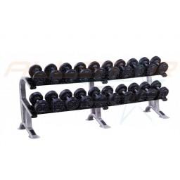 Set of Pro Medial Dumbbells (2.5kg to 50kg) with Racks