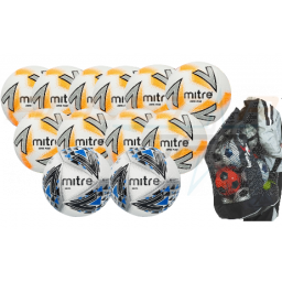 Mitre 450g Size 5 U15 - Adult Match & Training Ball Pack with Bag