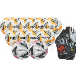 Mitre 450g Size 5 U15 - Youths Match & Training Ball Pack with Bag