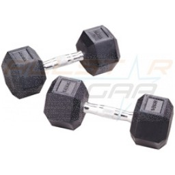 York Commercial Rubber Hex Dumbbells