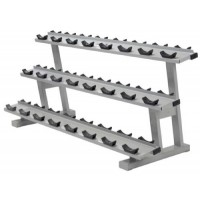Commercial 3 Tier Dumbbell Rack with Saddles