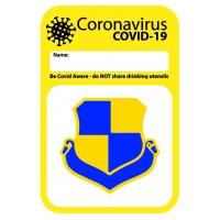 Club Crested Covid Name Sticker