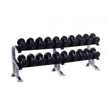 York 2.5kg - 25kg ProStyle Dumbbell Set With Rack